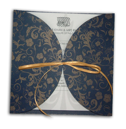 Hindu Wedding Card MCC Blue