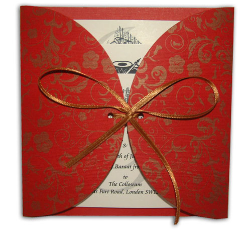 Hindu Wedding Card MCC Red